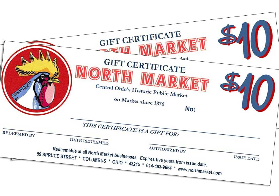 20 gift certificates north market columbus ohio