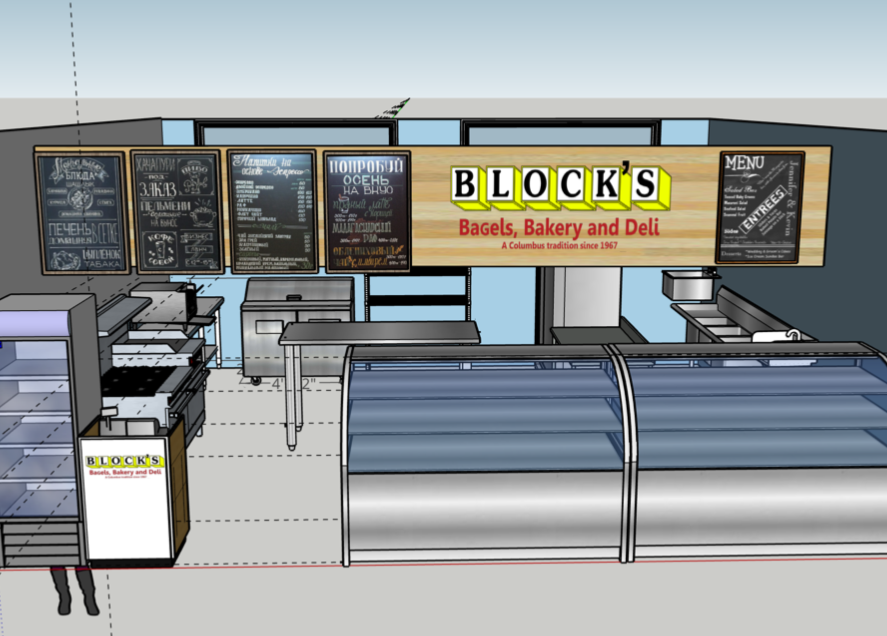 Concept rendering of the proposed Block's Bagels stall at North Market.